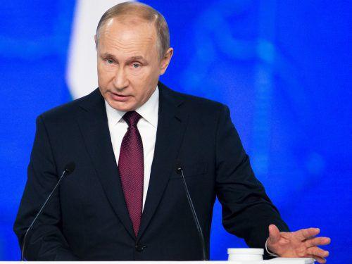 Der Kremlchef hielt bereits seine 15. Rede an die Nation. AP