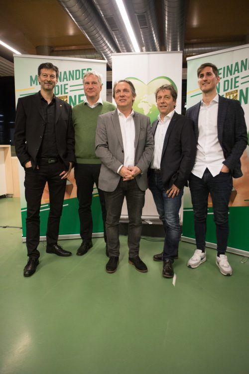 Der neue Austria-Vorstand, von links: Stephan Muxel, Sepp Bayer, Christoph Wirnsperger, Bernd Bösch und Valentin Drexel.Hartinger/4