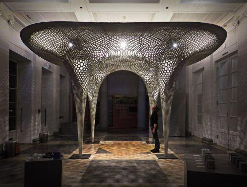 Der Rosenstein-Pavillon in Stuttgart ist ein Beispiel für die vielfältigen Möglichkeiten des Materials. Auf der com:bau gibt es eine Sonderausstellung zu Beton. messe