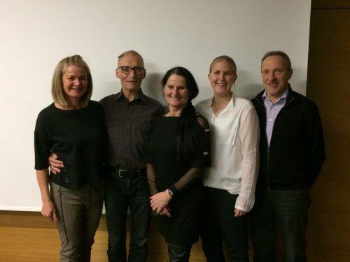 Der Vorstand des TSC Blau-Gold: Melitta Fitz (v.l.), Franz Steinbichler, Ria Steinbichler, Elisabeth Hörburger und Eugen Kathan. TSC