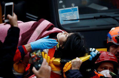 Die Fünfjährige konnte einen Tag nach dem Einsturz des Wohnhauses gerettet werden.RTS