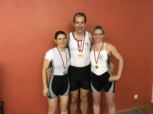 Die Medaillengewinner: (v. l.) Bettina Siess, Günther Wetschnig und Ute Simma. privat