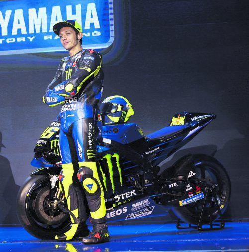 Die Nummer 46 wird 40 Jahre alt. Motorrad-Superstar Valentino Rossi feiert am Samstag einen runden Geburtstag. ap