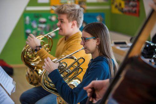 Die Quarta 1/4 Jugendphilharmonie probt zurzeit in Bizau. VN/Paulitsch