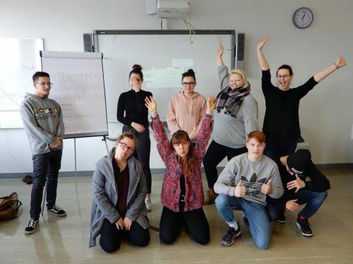 Die Schüler der Handelsschule bekamen Profi-Tipps von Slammerin Ramona Pohn.lcf