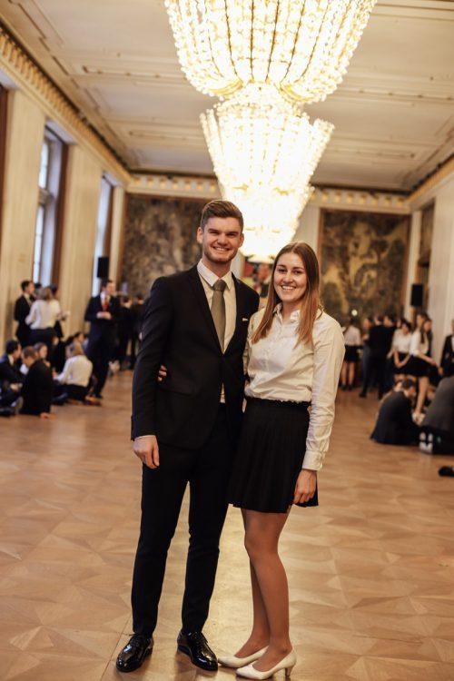 Die Vorarlberger Debütanten Ferdinand Fink und Lea Huber sind auch privat ein Paar.