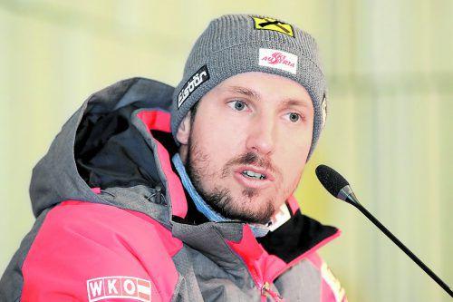 Die WM in Aare wird ein Kurzausflug: Marcel Hirscher. gepa