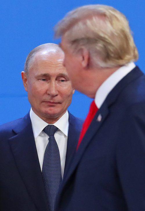 Die Regierungen von Putinund Trump lösten den INF-Vertrag auf.REUTERS