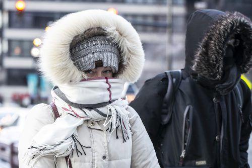 Eisige Temperaturen mit Minusrekorden beherrschen weite Teile der USA. AP