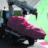 Vettel unverletzt