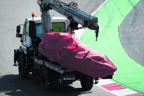 Ferrari verlor durch den Crash einen halben Testtag. ap