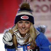 Mikaela Shiffrin fuhr im Super-G zu WM-Gold. C1, 2