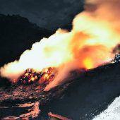 Deponie in Flammen