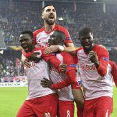 Salzburg bejubelt den Achtelfinaleinzug in der Europa League, Aus für Rapid. C1