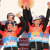 Österreichs Skispringer mit Silber im Teambewerb bei Heim-WM. C1