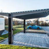I+R entwickelt Photovoltaik-Carport für Porsche