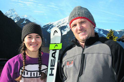 Gina Pfeiffer startet mit Unterstützung von Hubert Biermeier im Europacup.vsv