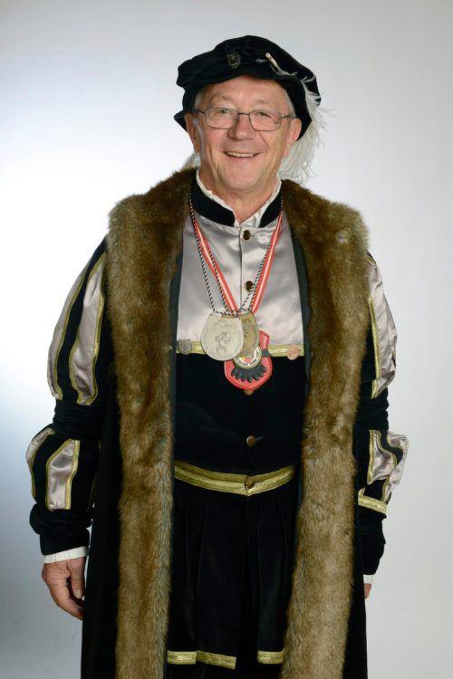 Hubert Schwarz regiert im Fasching als Graf Rudolf IX. über die Montfortstadt.