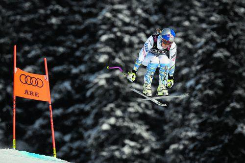 Im letzten Rennen ihrer Karriere riskierte Linsdey Vonn noch einmal alles.apa