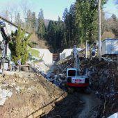 Restarbeiten bei Lochauer Wildbachprojekt