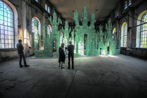 Im vergangenen Jahr konnte man im Kunstraum Dornbirn 19.954 Besucher zählen. Im Bild ist die Keramik-Installation, die der Tiroler Künstler Elmar Trenkwalder eigens für den Ort konzipiert hatte. VN/Steurer