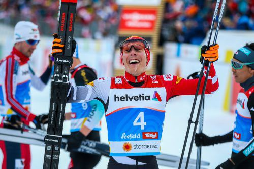 Im Ziel ließ der 25-jährige Franz-Josef Rehrl seinen Emotionen freien Lauf und freute sich über seine erste WM-Medaille.gepa