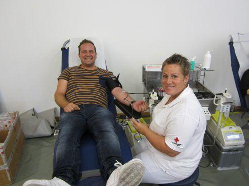 In Bludesch wurde kürzlich fleißig Blut gespendet. Blutspendedienst