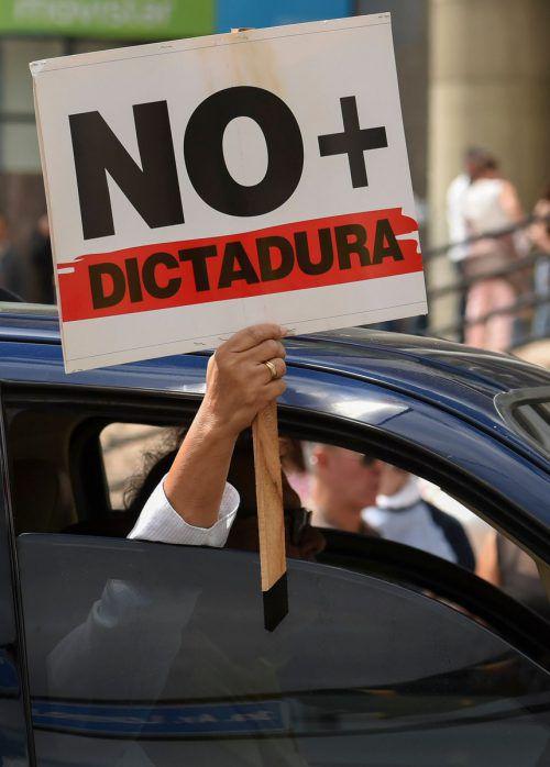 In Caracas kam es erneut zu Protesten gegen Maduro. AFP