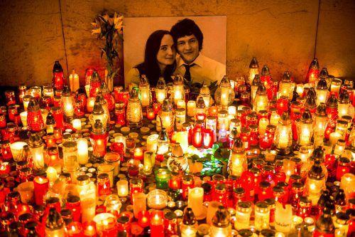 Jan Kuciak und seine Verlobte wurden vor einem Jahr getötet.AFP