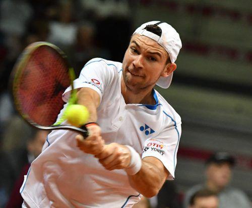 Jurij Rodionov verlor als Debütant das entscheidende fünfte Spiel beim Daviscup-Duell der Österreicher gegen Chile.apa