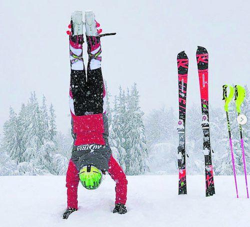 Katharina Liensberger zeigt: Training geht auch ohne Ski.instagram