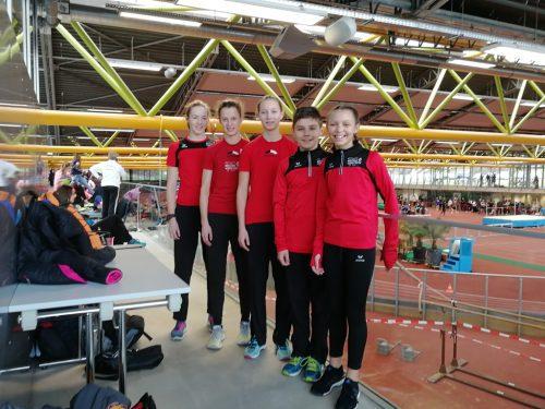 Landesrekord und alle Athleten auf dem Podest beim München Indoor Meeting. tsbv