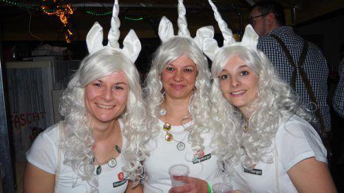 """Magisch unterwegs waren die """"Einhörner"""": Christine, Sabine und Sandy. CEG"""