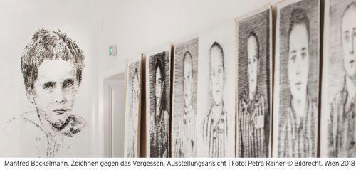 Manfred Bockelmann erinnert mit Kohlezeichnungen an die jüngsten NS-Opfer. bildraum bodensee
