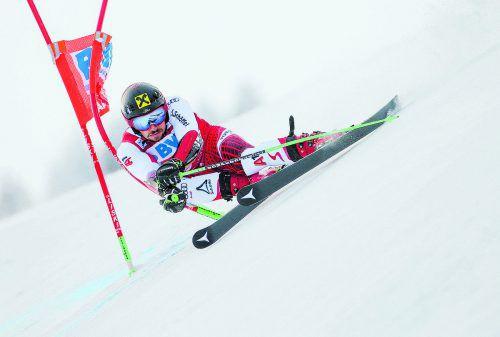 Marcel Hirscher ist der große Favorit auf WM-Gold im Riesentorlauf. Der Salzburger ist allerdings durch einen grippalen Effekt gehandicapt.gepa