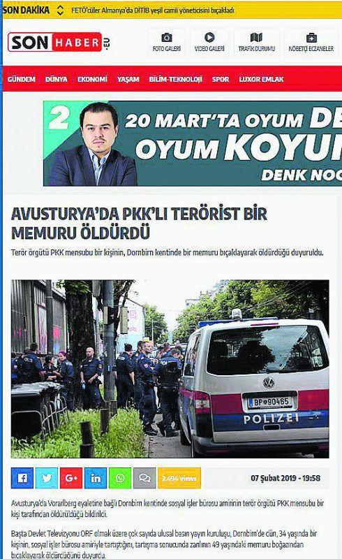 Medienberichte aus der Türkei mit Fotos von massiven Polizeieinsätzen.