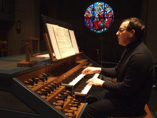 Michael Schwärzler ist seit September 2011 einer der wenigen hauptamtlichen Kirchenmusiker in Vorarlberg. jurmann