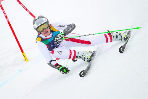 Mit einem Vorsprung von mehr als 2,6 (!) Sekunden raste Magdalena Egger im Riesentorlauf zu ihrem zweiten Sieg im Rahmen der EYOF-Winterspiele 2019.gepa