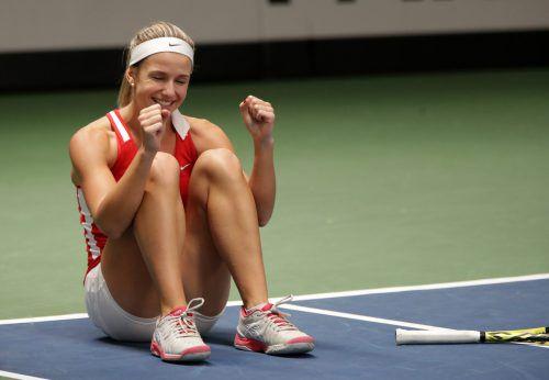 Österreichs Barbara Haas holte den zweiten Sieg im Einzel.GEPA