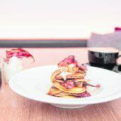 Pancakes mit Speck und Bananen