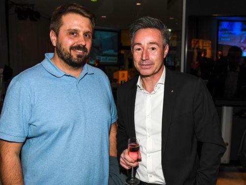 Pascal Sonnleithner (Panto Outdoor) und Oliver Prantl, Sparkasse Bregenz. VN/Lerch