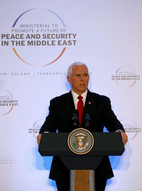 Pence forderte die Europäer zum Ausstieg aus dem Atomdeal auf. reuters