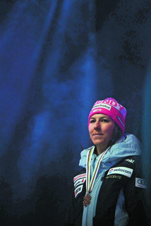 Plädoyer nach Gold in Aare für die Kombination: Wendy Holdener. gepa
