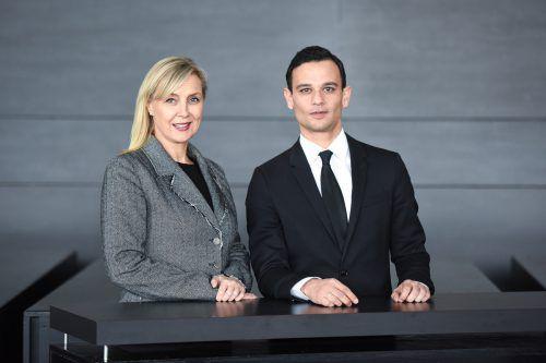 Projektleiterin Petra Fiel und künstlerischer Leiter Aram Haus. mittelberger