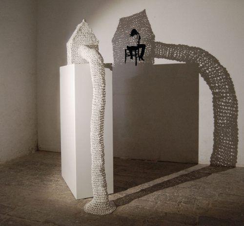 Reusenhaus 4, Installation mit Wandbild, 2013.galerie.Z