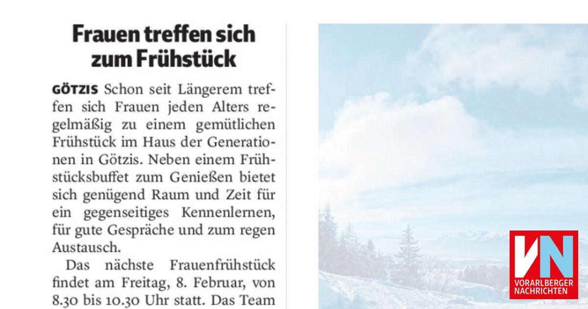 Frauen treffen sich zum Frhstck - Vorarlberger Nachrichten