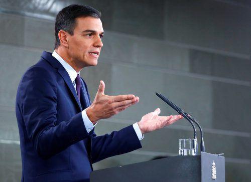 Spaniens Ministerpräsident Pedro Sánchez rief Neuwahlen aus und startete seine Wahlkampagne. Reuters