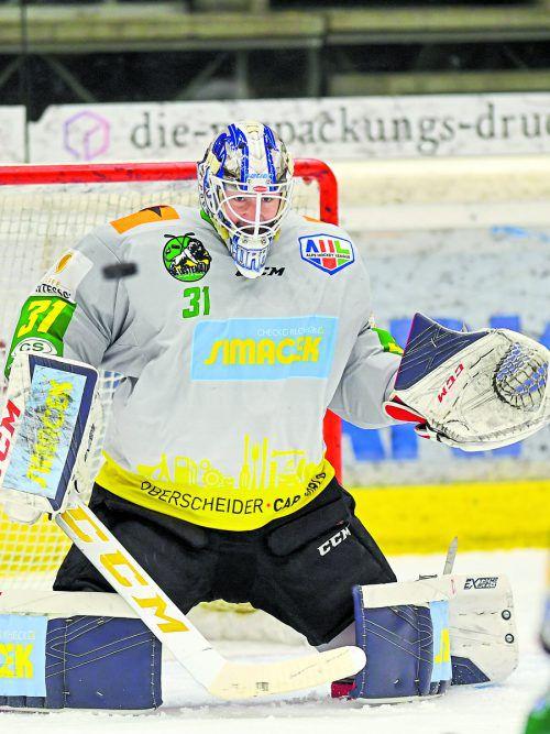 Spielte zuletzt seine Hochform aus: Lustenaus Torhüter Mathieu Corbeil. lerch
