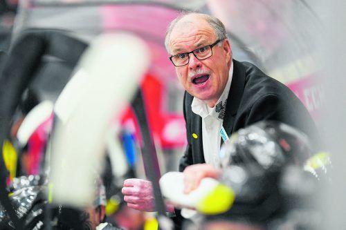 Trainer Dave MacQueen und der Dornbirner EC kämpfen ab Dienstag in der Qualifikationsphase um einen Platz im Play-off. gepa