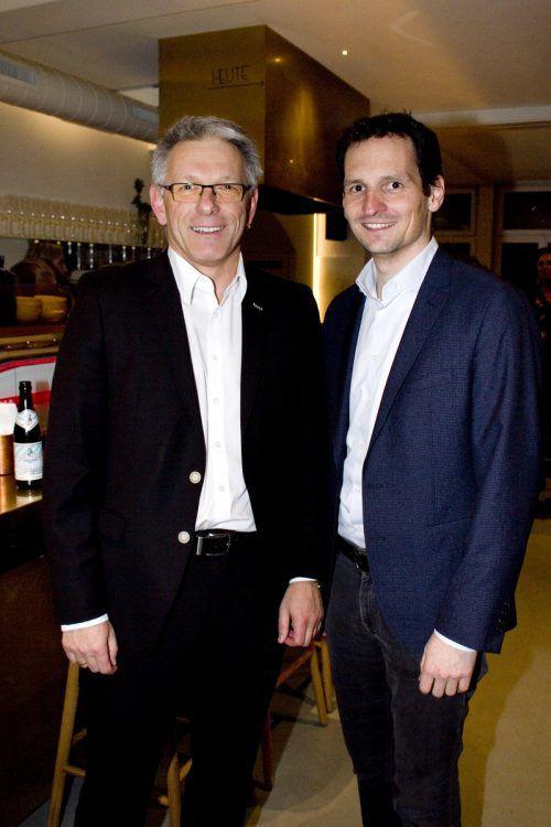 Udo Reiner (Raiba, l.) und LA Julian Fässler.